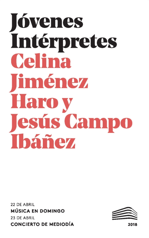 "Portada de ""Recital de canto. Domingos & Mediodías. 22 de abril de 2018"""