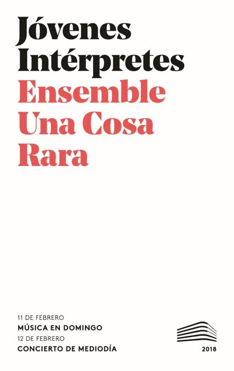 "Portada de ""Recital de música de cámara. Domingos & Mediodías. 11 de febrero de 2018"""