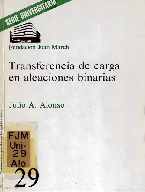 Transferencia de carga en aleaciones binarias [1977]. Biblioteca