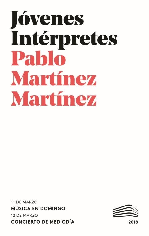 """Portada de """"Recital de piano. Domingos & Mediodías. 11 de marzo de 2018"""""""