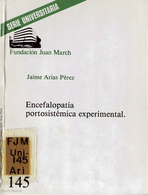 Encefalopatía portosistémica experimental [1981]. Biblioteca