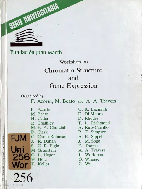"Portada de ""Workshop on Chromatin Structure and Gene Expression"""