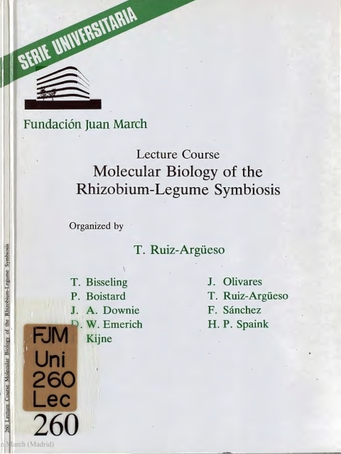 "Portada de ""Lecture Course Molecular Biology of the Rhizobium-Legume Symbiosis"""