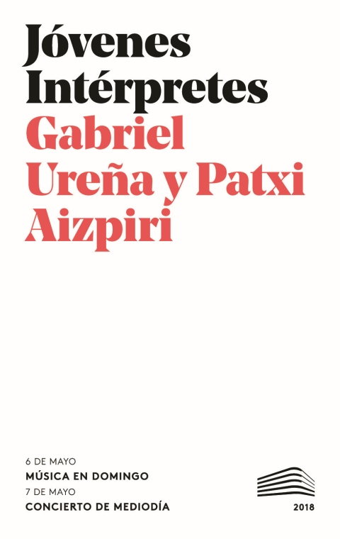"""Portada de """"Recital de violonchelo y piano. Domingos & Mediodías. 6 de mayo de 2018"""""""