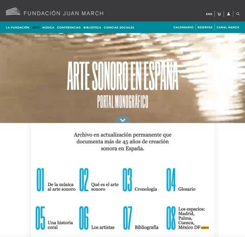 Escuchar con los ojos: arte sonoro en España (1961-2016) [2016]. Biblioteca