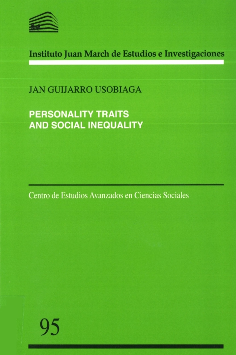 "Portada de ""Personality Traits and Social Inequality"""