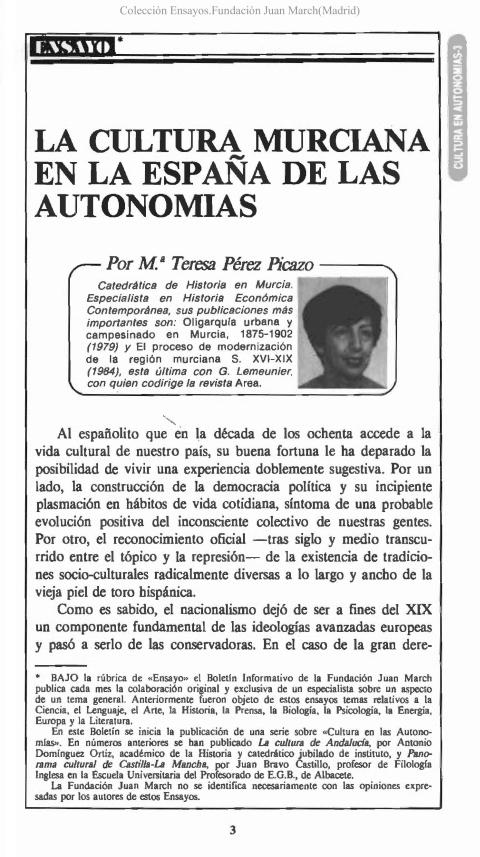 """Portada de """"La cultura murciana en la España de las Autonomías"""""""