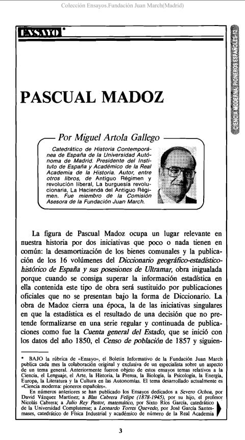 Pascual Madoz [1987]. Biblioteca