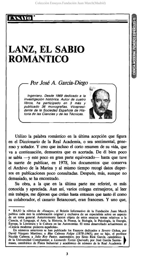 Lanz, el sabio romántico [1987]. Biblioteca