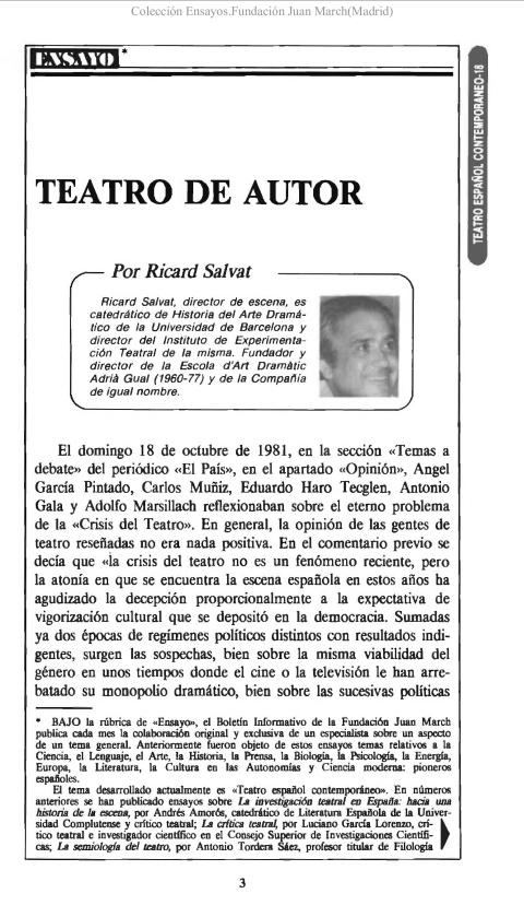Teatro de autor [1989]. Biblioteca
