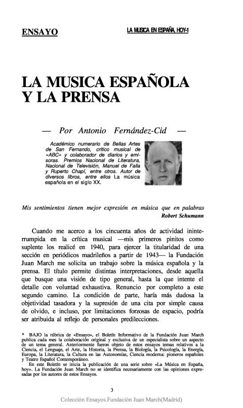 La música española y la prensa [1990]. Biblioteca