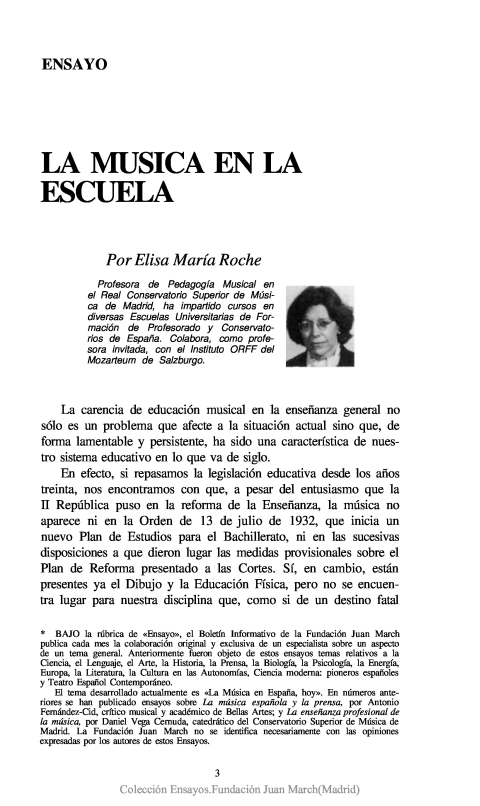 La música en la escuela [1990]. Biblioteca