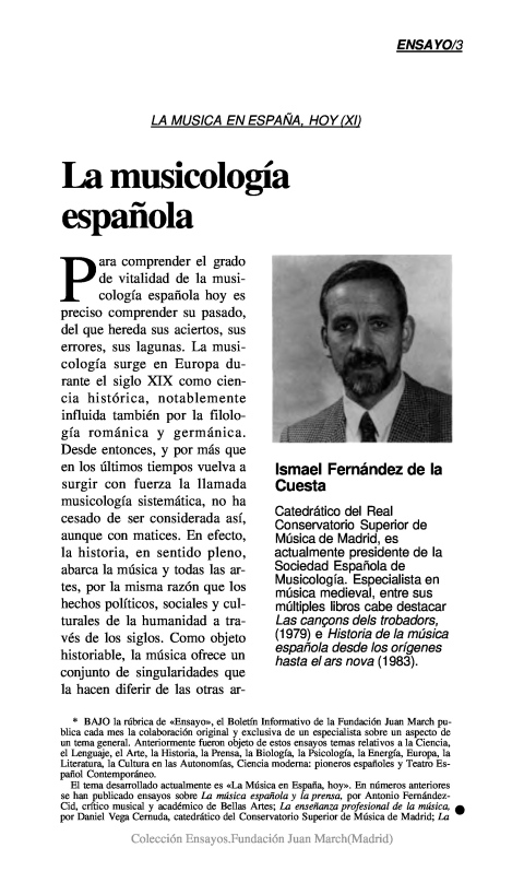 La musicología española [1991]. Biblioteca