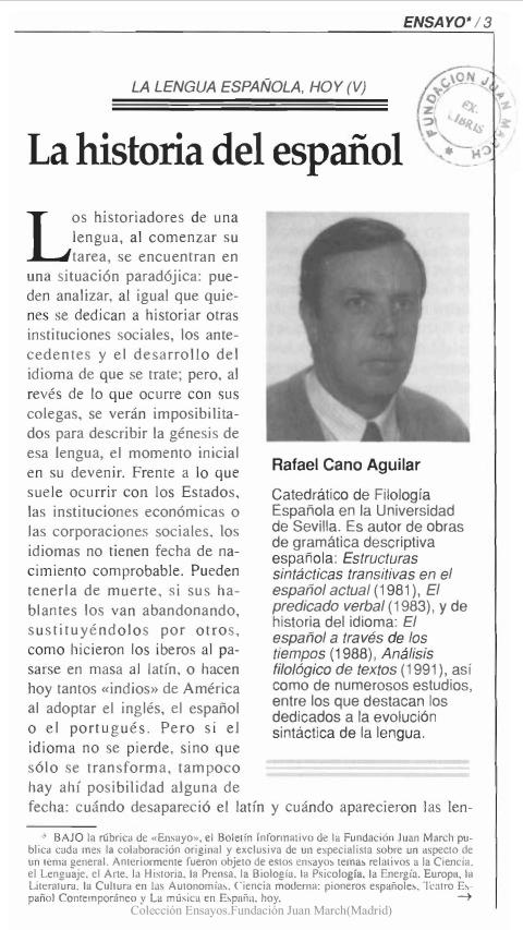 La historia del español [1992]. Biblioteca