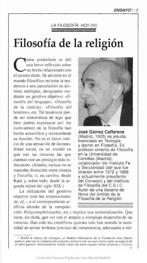 Filosofía de la religión [1997]. Biblioteca