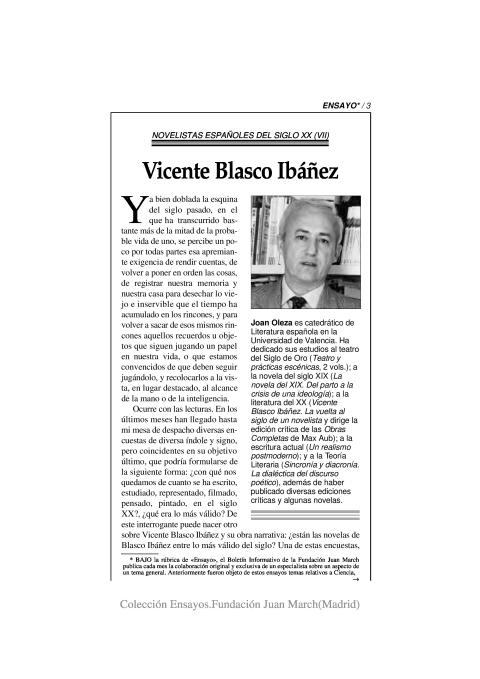 Vicente Blasco Ibáñez [2002]. Biblioteca