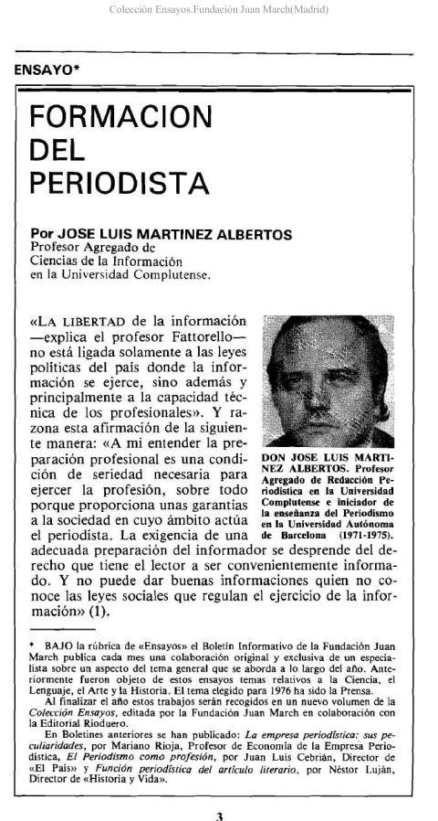 Formación del periodista [1976]. Biblioteca