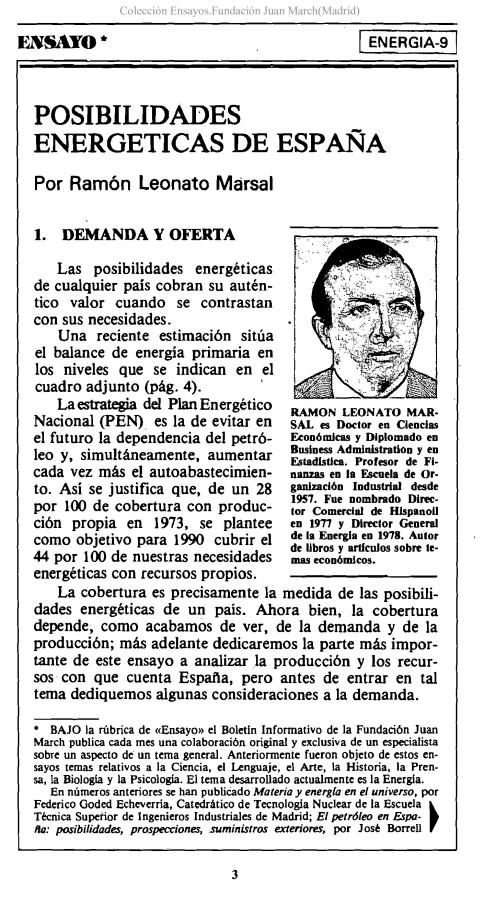 Posibilidades energéticas de España [1980]. Biblioteca