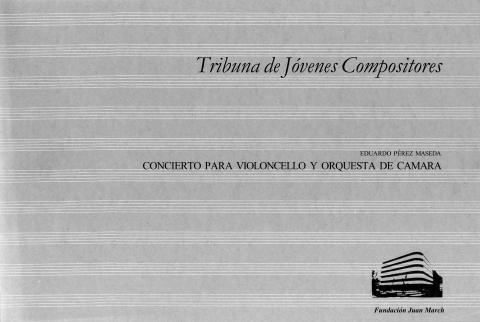 Concierto para violoncello y orquesta de cámara [1983]. Biblioteca