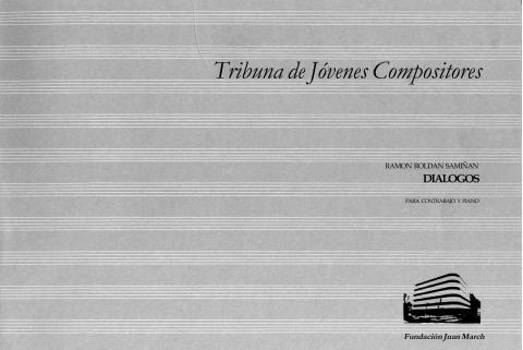 Diálogos : para contrabajo y piano [1984]. Biblioteca