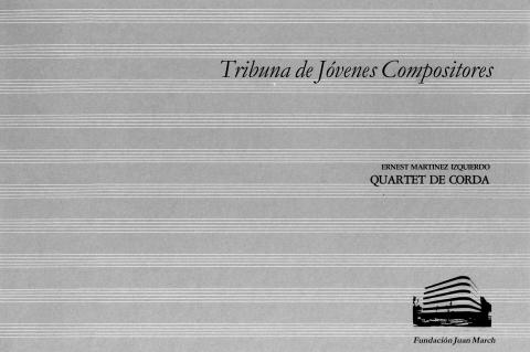 """Portada de """"Quartet de corda"""""""