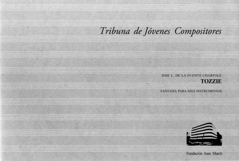 """Portada de """"Tozzie : fantasía para diez instrumentos"""""""