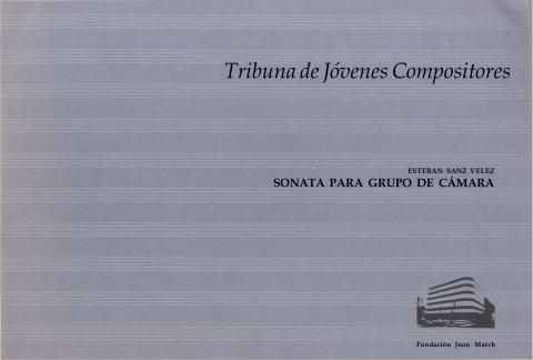 """Portada de """"Sonata para grupo de cámara"""""""