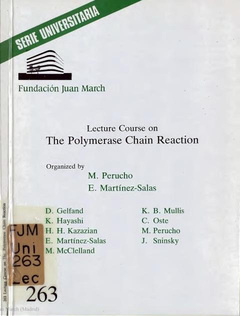 "Portada de ""Lecture Course on the Polymerase Chain Reaction"""