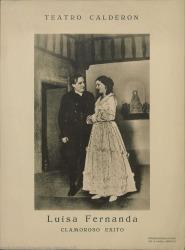 """Fotografía de """"Luisa Fernanda"""" de Federico Romero y Guillermo Fernández-Shaw, música de Moreno Torroba : Teatro Calderón (Madrid)."""