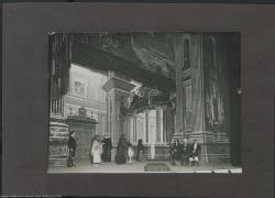 """Fotografía del segundo acto de """"La sombra del Pilar"""" de Federico Romero y Guillermo Fernández-Shaw, música de Jacinto Guerrero : Teatro Nuevo (Barcelona)."""