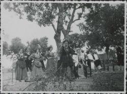"""Fotografía de """"La empresa de Clavileño"""" de Guillermo y Rafael Fernández-Shaw, música de Francisco Alonso : Teatro de la Naturaleza (El Escorial)."""