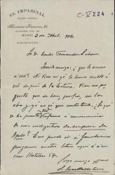 Cartas de Luis López-Ballesteros a Carlos Fernández Shaw.