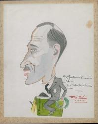 Caricatura de Guillermo Fernández-Shaw, de Argilés.