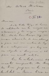 Cartas de Carlos Fernández Shaw a Octave Mirbeau.