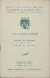 """Programa de mano de """"Byron en Venecia"""" : Teatro del Instituto Ramiro de Maeztu (Madrid)."""