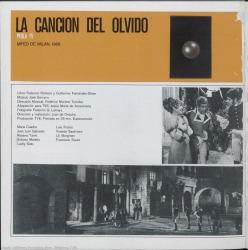 """Programa de mano de """"La canción del olvido"""" : Perla TV. Mifed de Milán, 1968."""