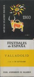 Festivales de España 1960 : Valladolid, 3 al 11 de septiembre.