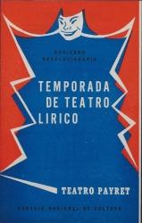 """Programa de mano de """"Doña Francisquita"""" : Teatro Payret (La Habana)."""