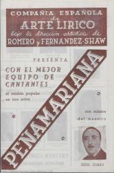 """Programa de mano de """"Peñamariana""""."""