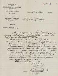 Cartas de Gabino Paez a Carlos Fernández Shaw.
