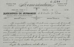 Cartas de M. Gómez a Carlos Fernández Shaw en nombre de Gabino Paez.