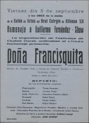 Doña Francisquita, de Federico Romero y Guillermo Fernández-Shaw, música de Amadeo Vives : Real Colegio de Alfonso XII (El Escorial).