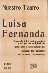 Luisa Fernanda, de Federico Romero y Guillermo Fernández-Shaw, música de Moreno Torroba.