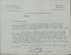 """Correspondencia relativa a contratos de representación y explotación de """"El caserío""""."""