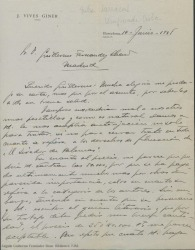 """Cartas de José Vives Giner a Guillermo Fernández-Shaw sobre """"Entre barracas"""" y otros temas."""