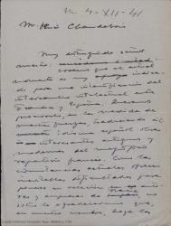 """Correspondencia relativa a """"La lección de Fray Juan de la Cruz"""" y otras traducciones teatrales y literarias."""