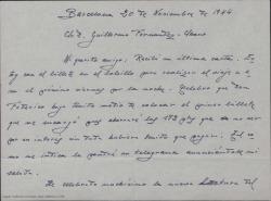 """Correspondencia relacionada con """"Montbruc se va a la guerra""""."""