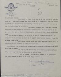 """Correspondencia relacionada con """"El sueño de Juan V""""."""