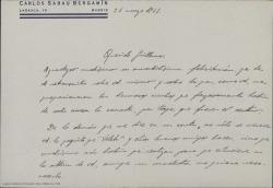 Correspondencia relacionada con homenajes y otros eventos celebrados en El Escorial con la participación, o en honor de Guillermo Fernández-Shaw.