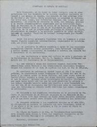 Correspondencia en relación con Guillermo Fernández-Shaw y Canadá, sus conferencias allí y otros temas.